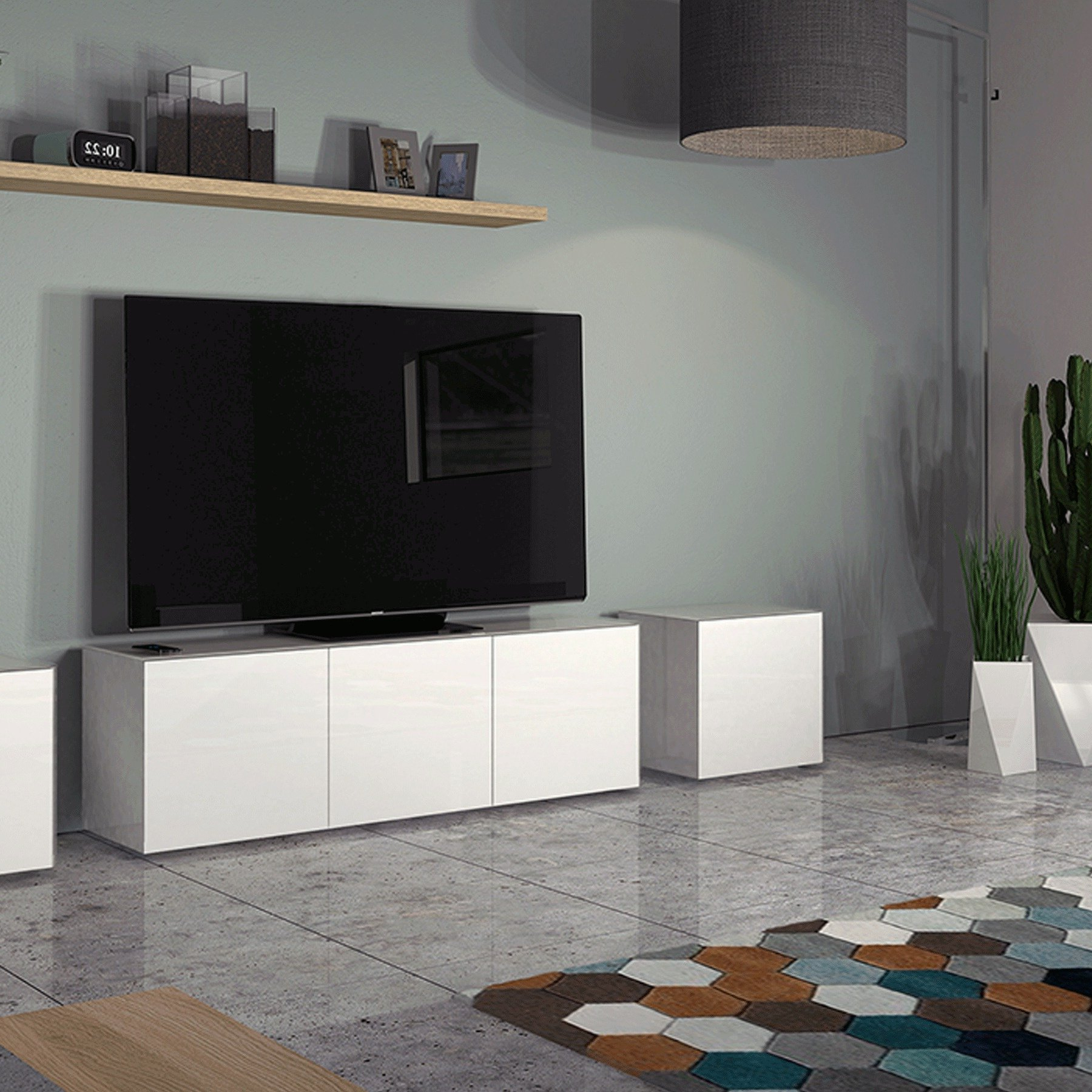 """Invictus White Tv Stand For Up To 70"""" Tvs Intended For Recent Kinsella Tv Stands For Tvs Up To 70"""" (View 15 of 25)"""