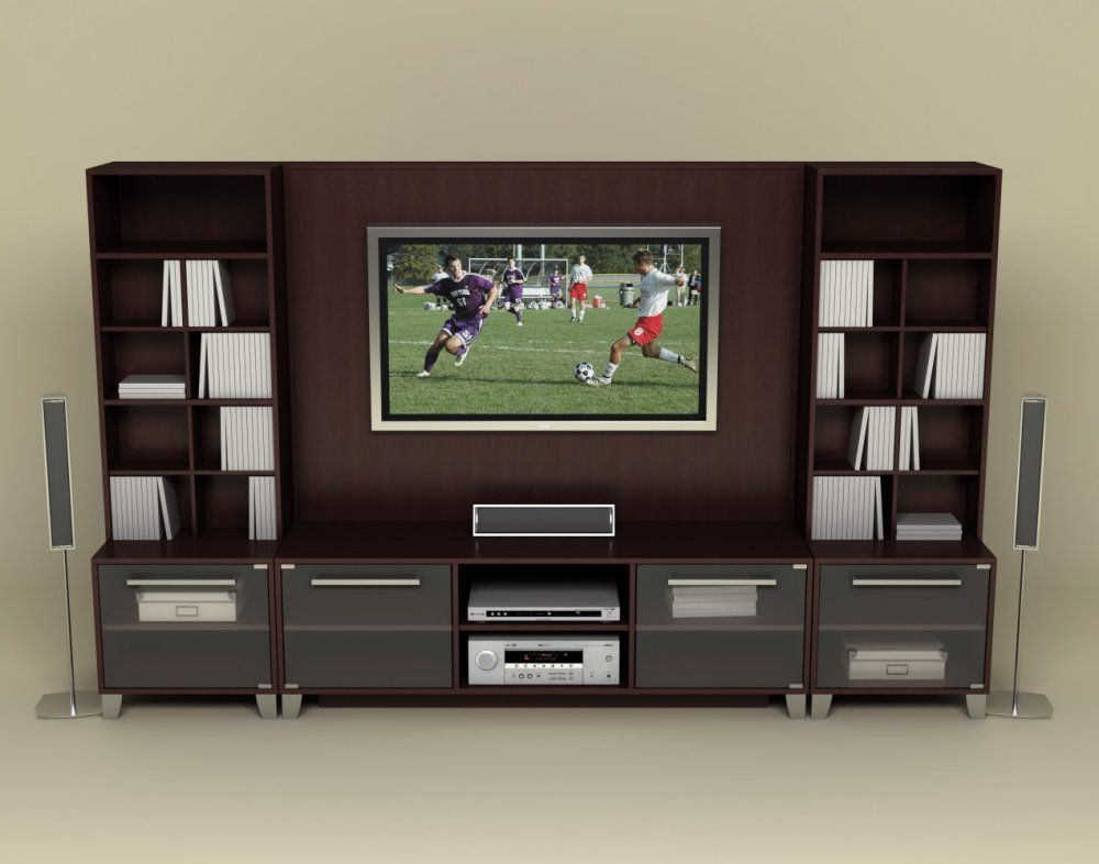 Jackson Corner Tv Stands With Fashionable Entertainment Center Set 1 In Espresso – Brooklyn (View 11 of 25)