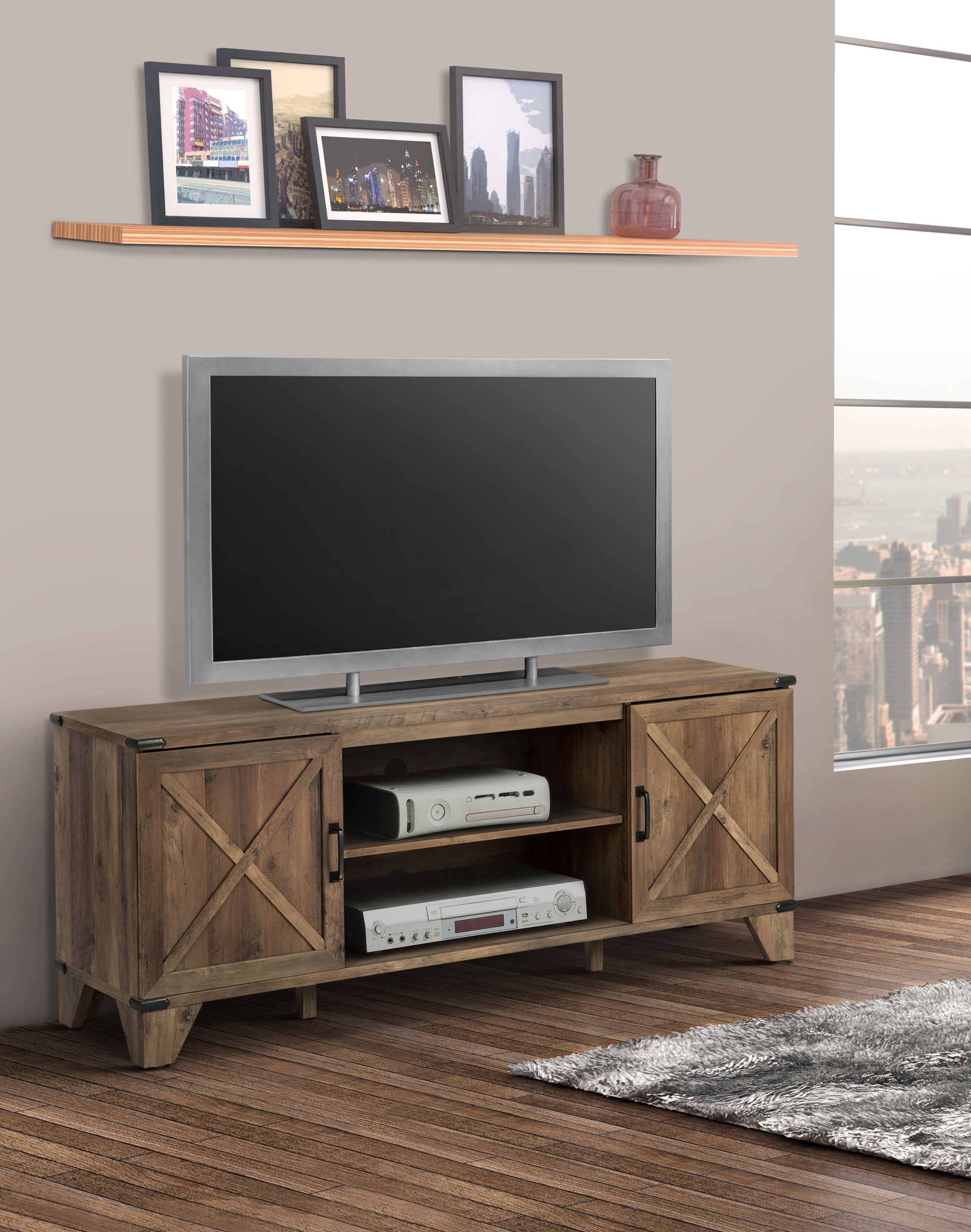 """Jackson Wide Tv Stands Intended For Famous Oxford 60"""" Wide Tv Stand – Walmart – Walmart (View 4 of 10)"""