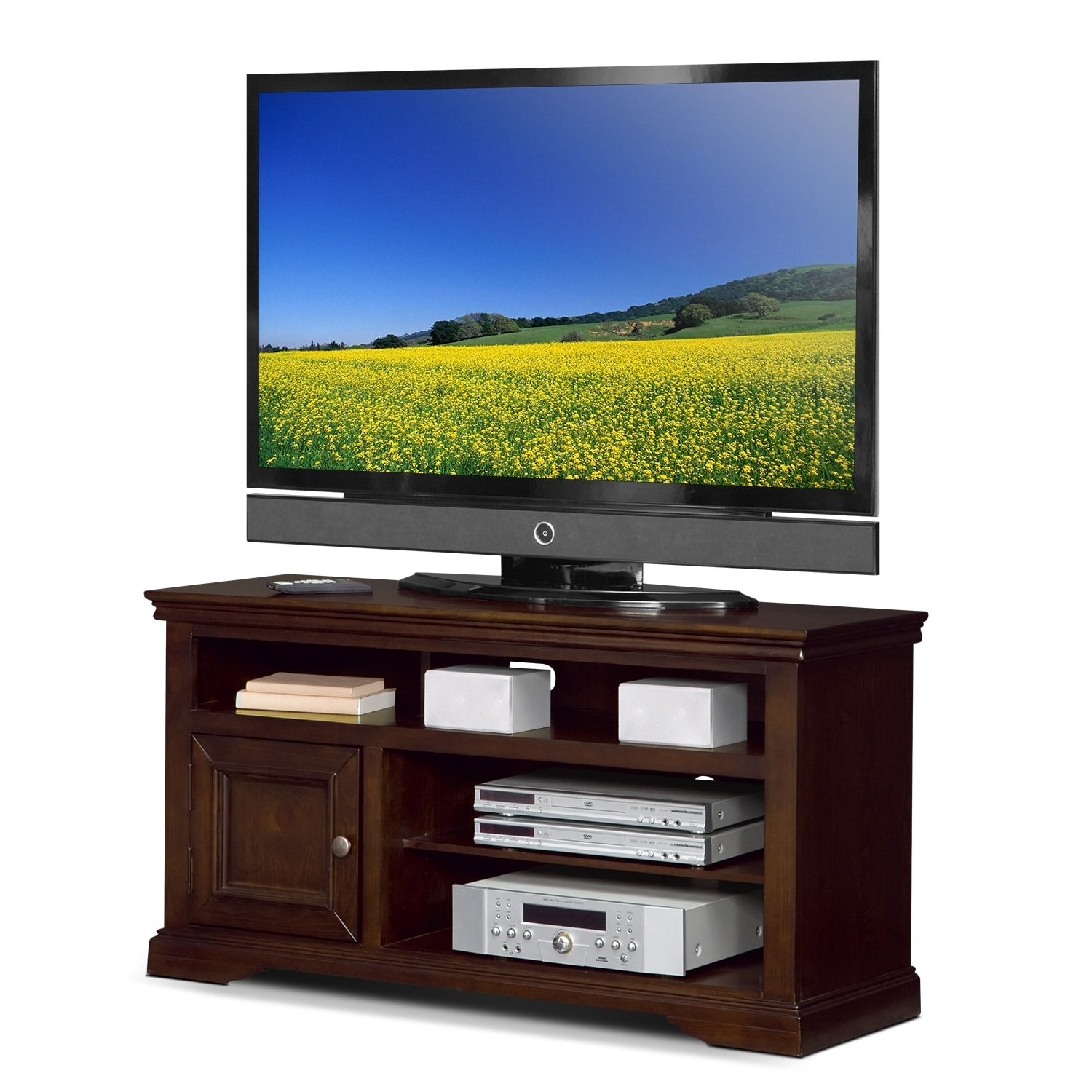 """Jenson 50"""" Tv Stand – Cherry (View 11 of 25)"""