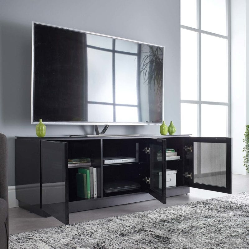 """Jowers Tv Stands For Tvs Up To 65"""" For Newest Black Gloss Tv Stand Up To 65 Inch Flat Tv (View 9 of 25)"""