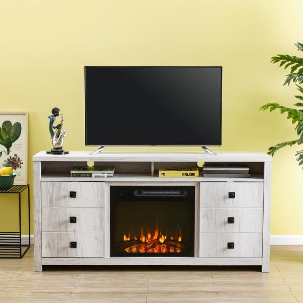 """Jowers Tv Stands For Tvs Up To 65"""" With Regard To Famous Unbranded 65 In. Oak Tv Stand For Tvs Up To 70 In (View 14 of 25)"""