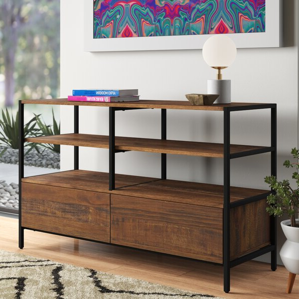 """Karmen Solid Wood Tv Stand For Tvs Up To 55 Inches In Most Up To Date Caleah Tv Stands For Tvs Up To 50"""" (View 16 of 25)"""