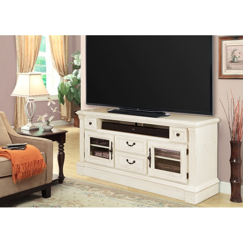 """Karon Tv Stands For Tvs Up To 65"""" Intended For Fashionable 65 Inch Burnished White Tv Stand – Fremont (View 7 of 25)"""