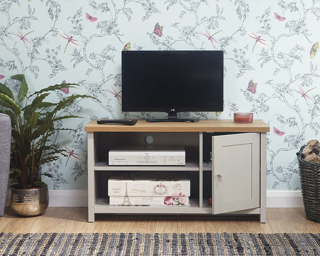 Lancaster Grey Small Tv Unit – One Stop Furniture Online In Well Known Lancaster Small Tv Stands (View 5 of 10)