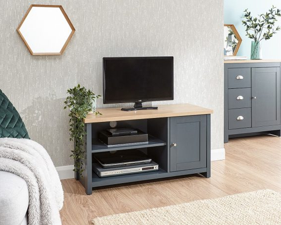 Lancaster Small Tv Stands Within 2018 Lancaster Blue Small Tv Unit – One Stop Furniture Online (View 2 of 10)