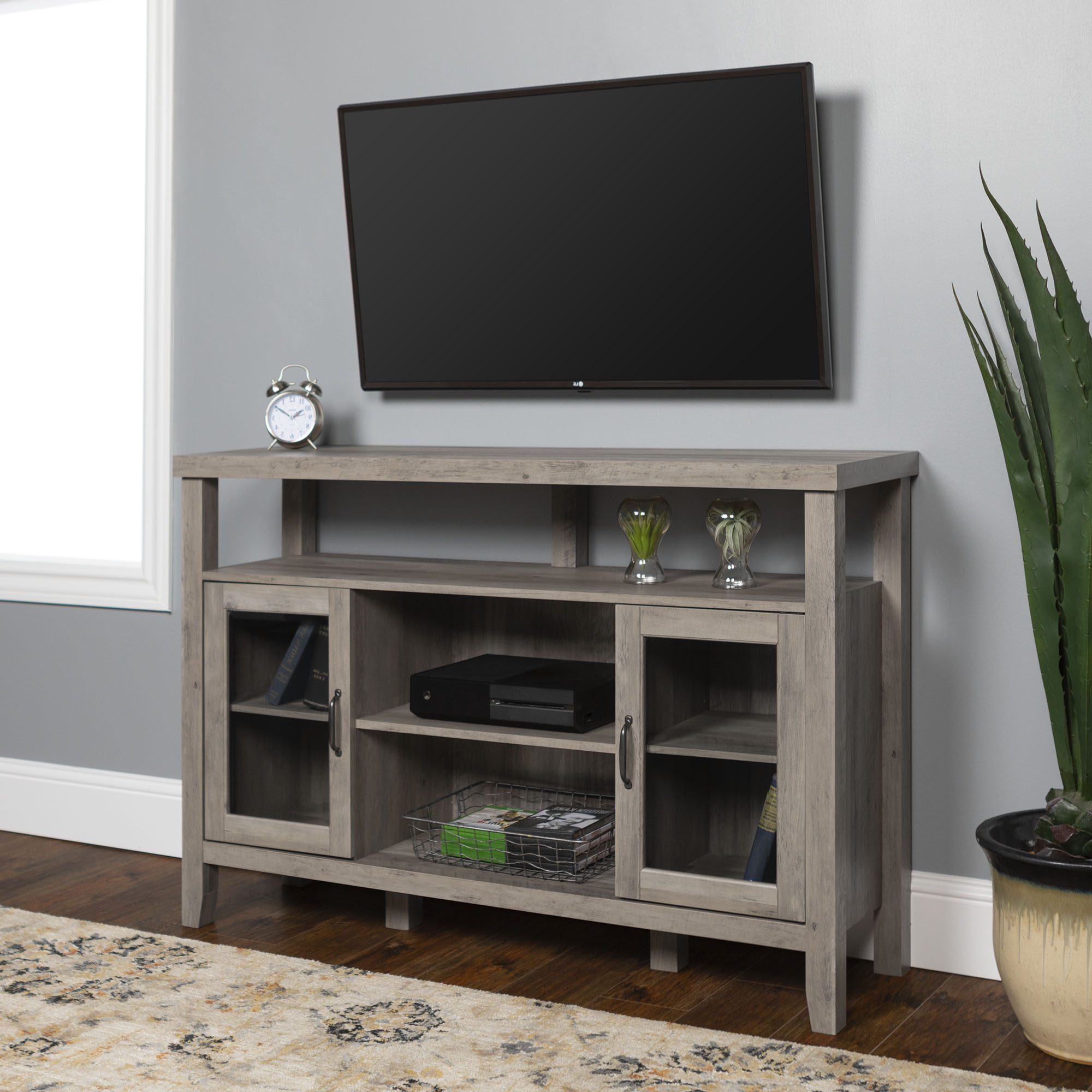 """Lansing Tv Stands For Tvs Up To 55"""" Pertaining To Latest Manor Park Modern Farmhouse Tall Tv Stand For Tvs Up To  (View 1 of 25)"""