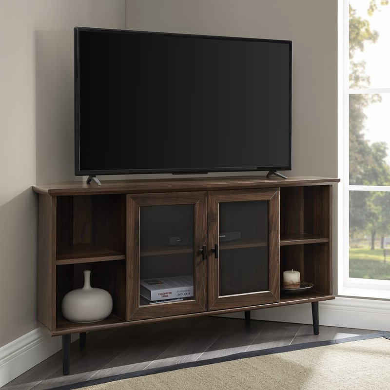 """Lansing Tv Stands For Tvs Up To 55"""" Within Well Known Gerardo Corner Tv Stand For Tvs Up To 55"""" & Reviews (View 4 of 25)"""