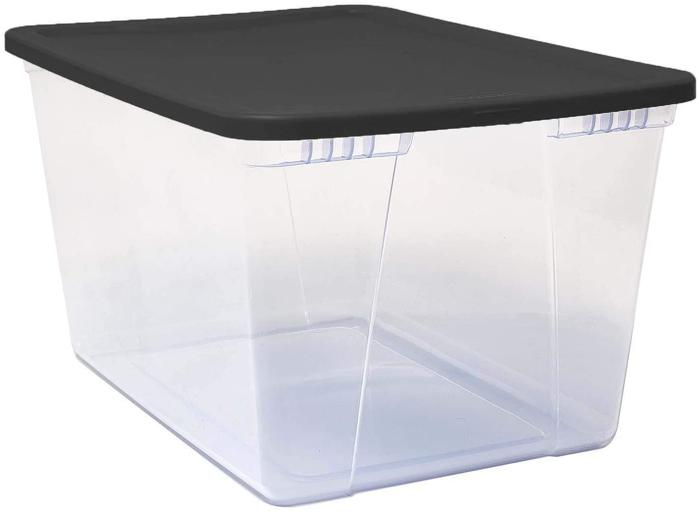 Latest Amazon: Mainstays Snaplock 50 Quart Clear Storage Pertaining To Mainstays Payton View Tv Stands With 2 Bins (View 7 of 10)