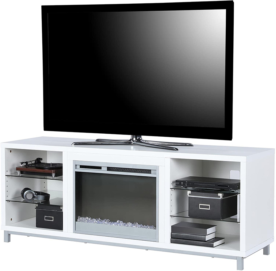 Latest Bromley Blue Wide Tv Stands Throughout The Top 10 Best Electric Fireplace Tv Stands Of  (View 3 of 10)