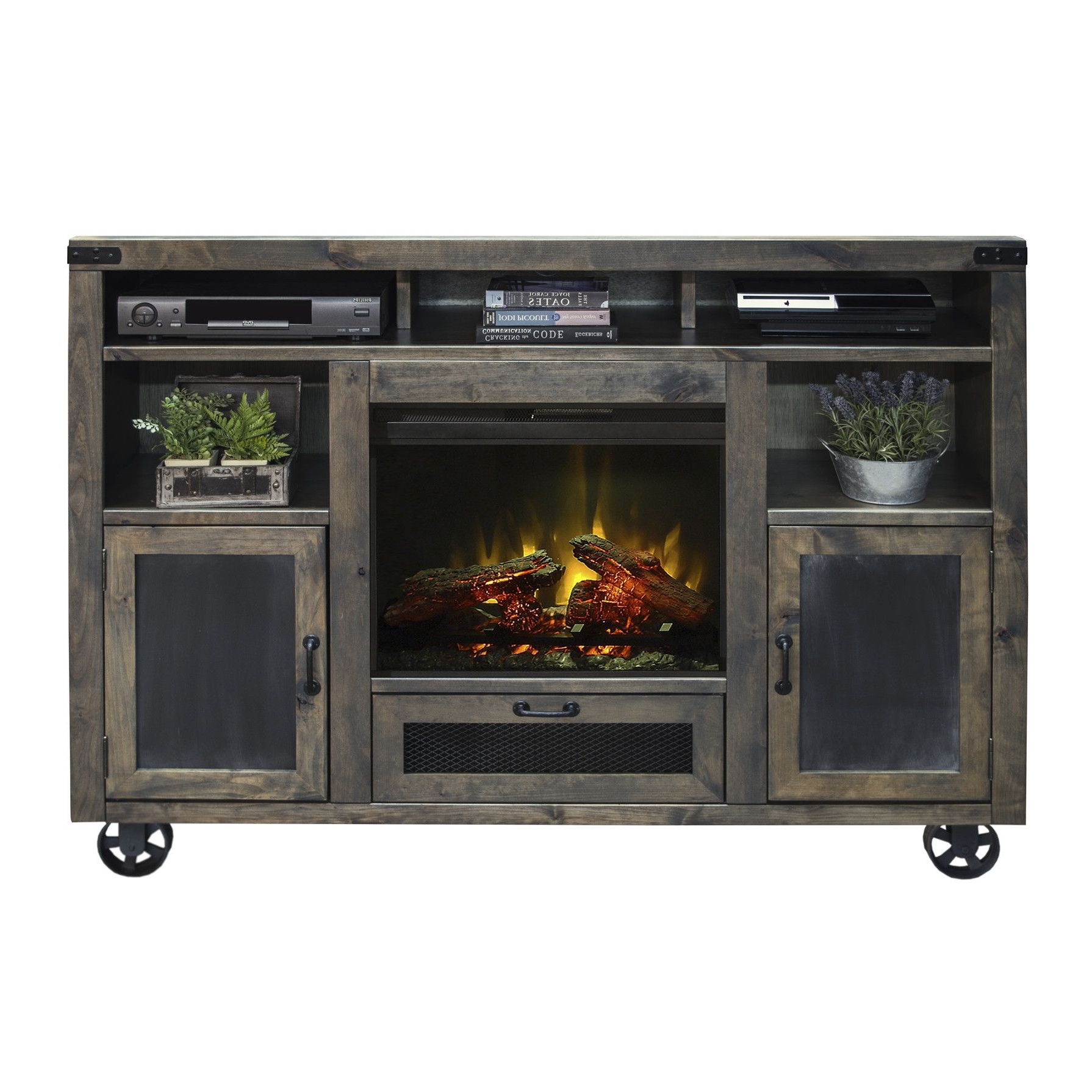 """Latest Hetton Tv Stands For Tvs Up To 70"""" With Fireplace Included For Narbonne Tv Stand For Tvs Up To 70 Inches With Electric (View 16 of 25)"""