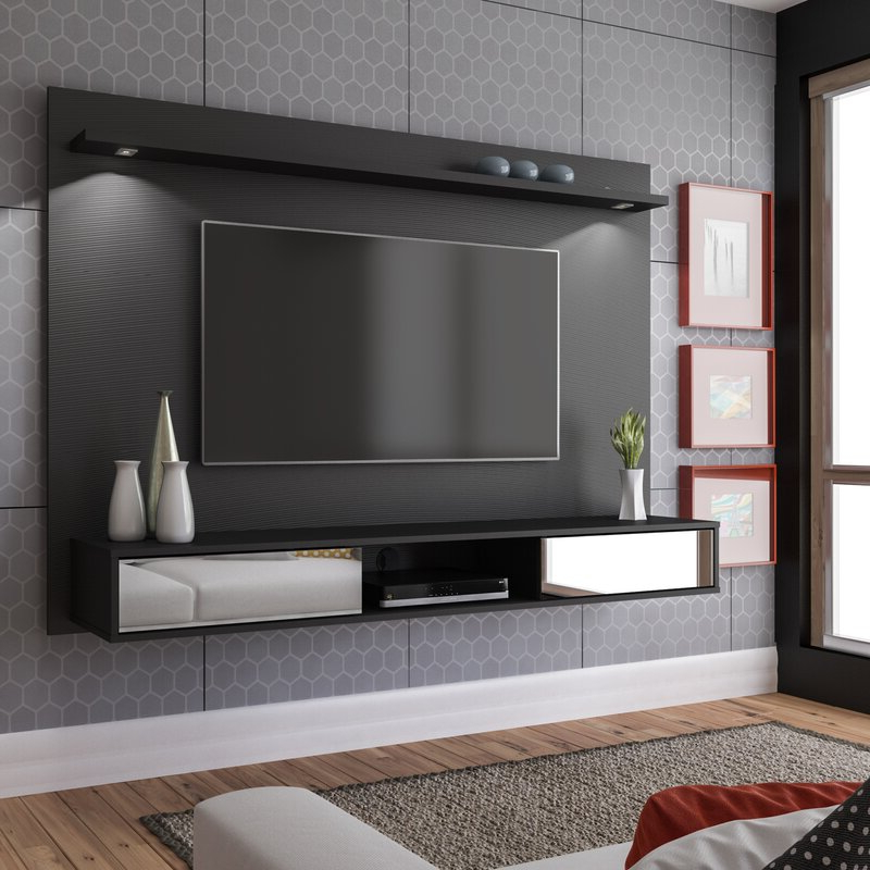 """Latitude Run® Arystan Floating Tv Stand For Tvs Up To 60 With Regard To Current Millen Tv Stands For Tvs Up To 60"""" (View 10 of 25)"""