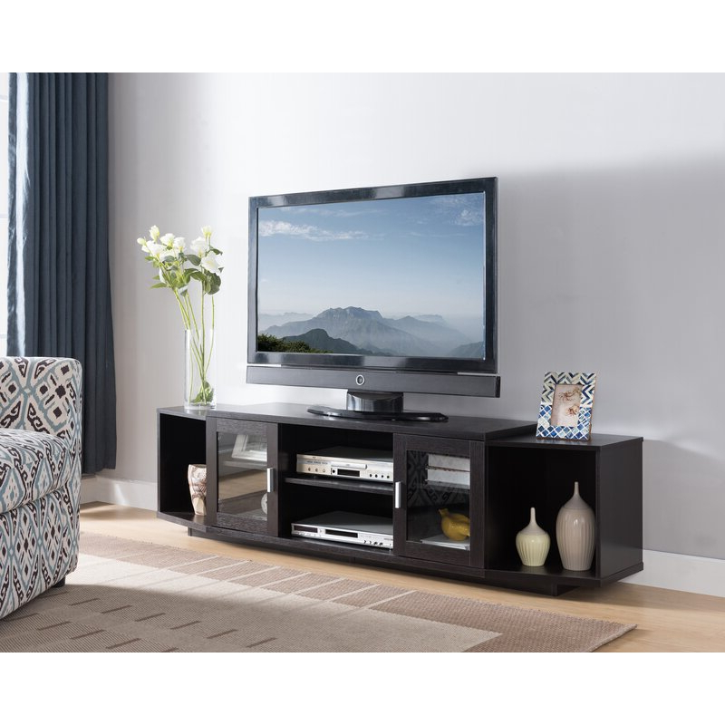 """Latitude Run® Capitol Tv Stand For Tvs Up To 78"""" & Reviews With Recent Grandstaff Tv Stands For Tvs Up To 78"""" (View 15 of 25)"""