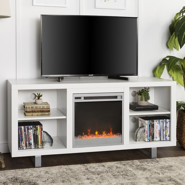 """Latitude Run® Depasquale Tv Stand For Tvs Up To 65"""" With Inside 2017 Hetton Tv Stands For Tvs Up To 70"""" With Fireplace Included (View 8 of 25)"""
