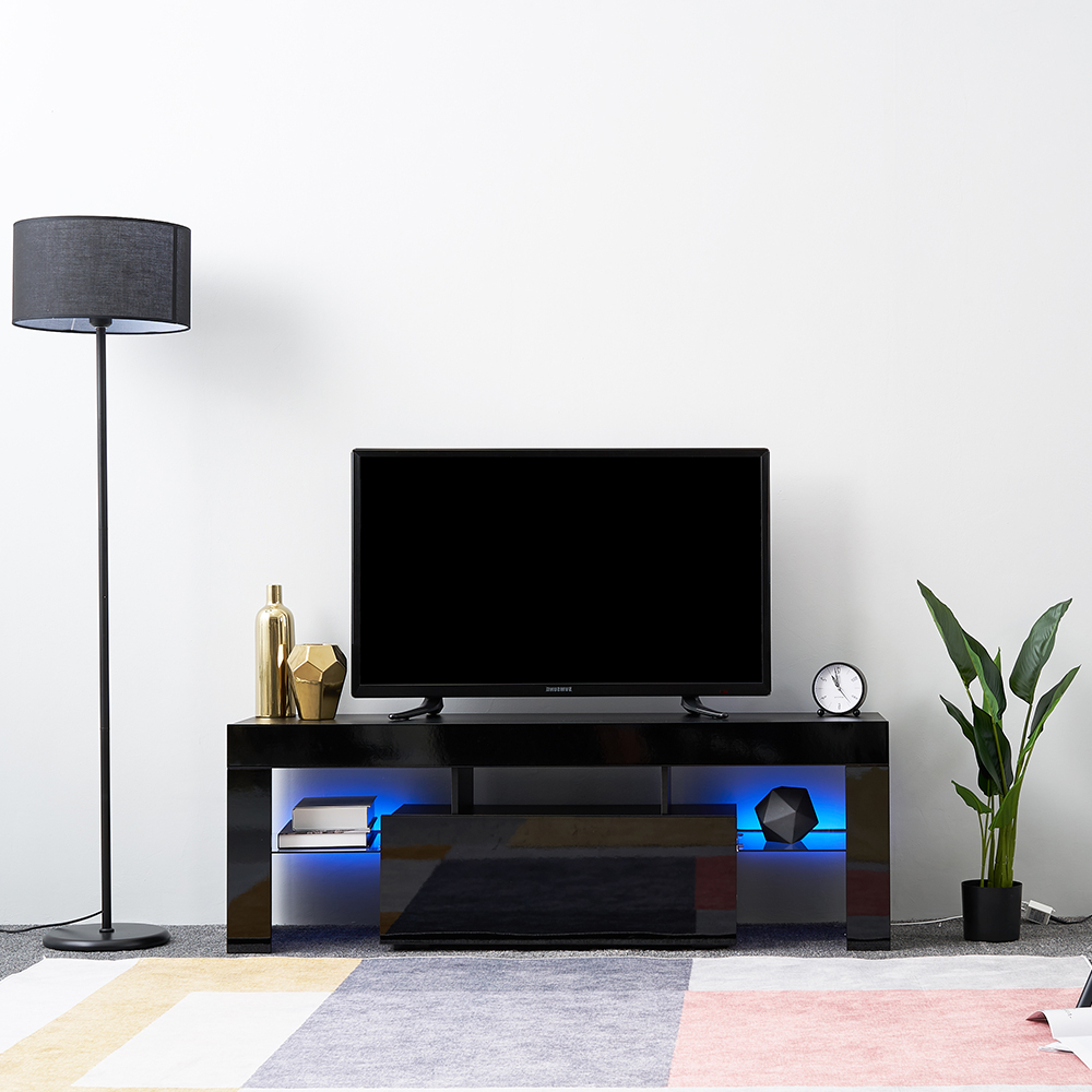 Led Tv Stand Modern Led Living Room Furniture Tv Cabinets In Famous 57'' Led Tv Stands With Rgb Led Light And Glass Shelves (View 3 of 10)