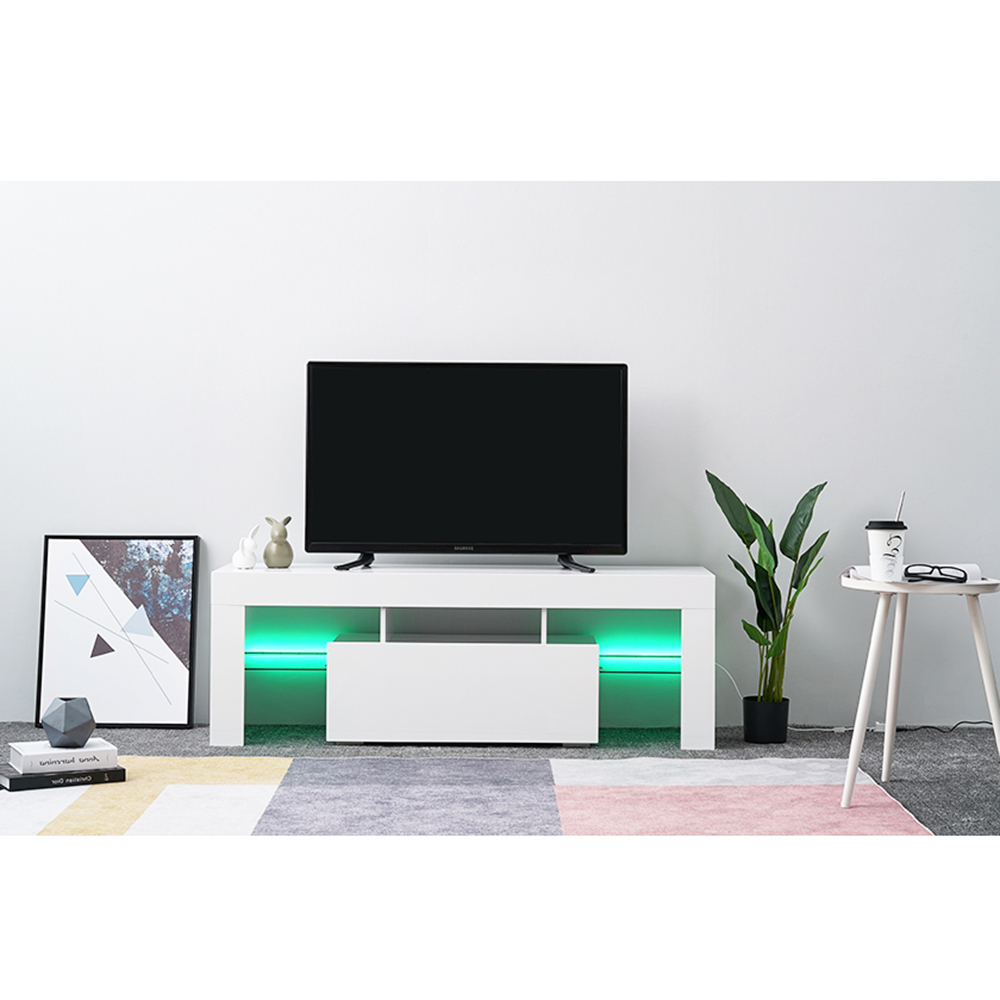 Led Tv Stand Modern Led Living Room Furniture Tv Cabinets Pertaining To Most Current 57'' Led Tv Stands With Rgb Led Light And Glass Shelves (View 4 of 10)