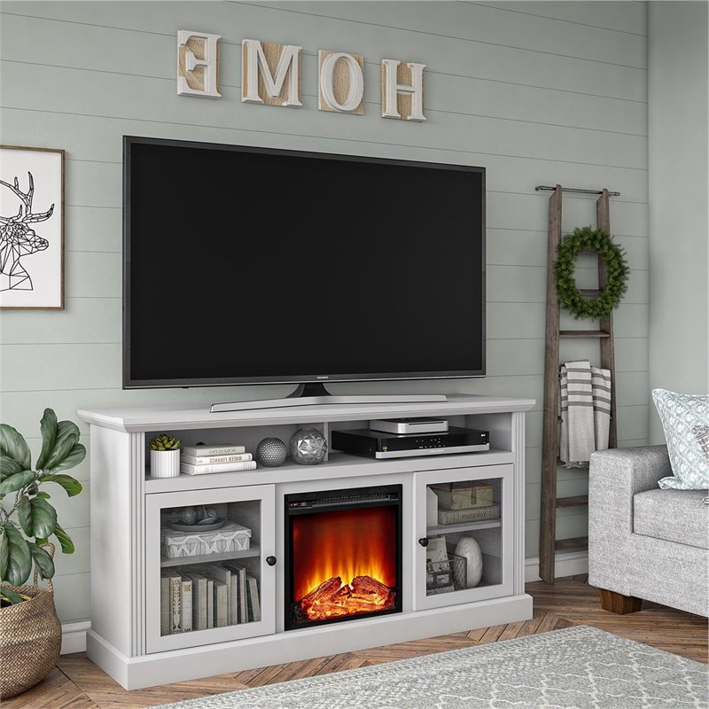 """Leonid Tv Stands For Tvs Up To 50"""" Within Current Ameriwood Home Chicago Fireplace Tv Stand Up To 65"""" In (View 24 of 25)"""