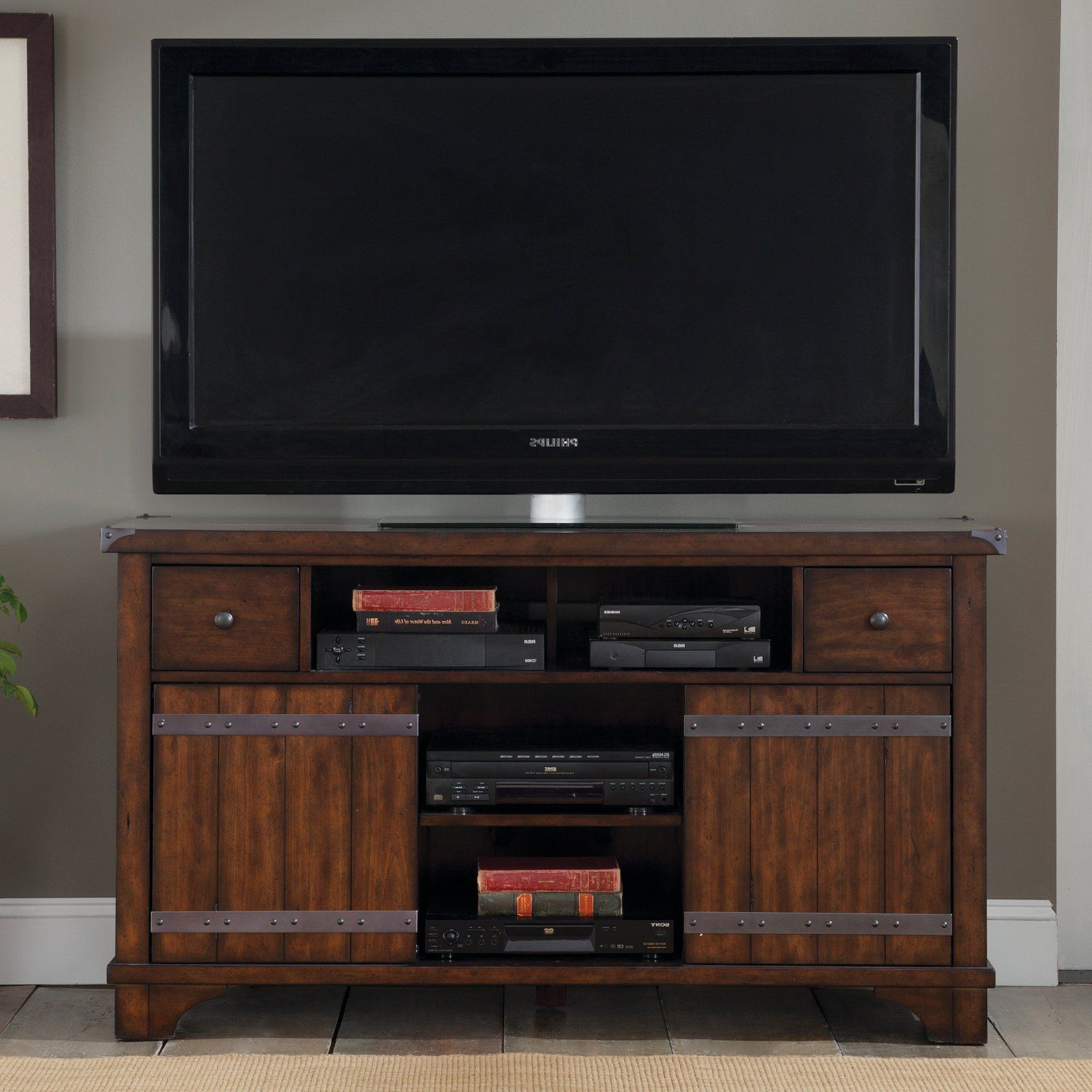 Liberty Furniture For Mainstays 3 Door Tv Stands Console In Multiple Colors (View 5 of 10)