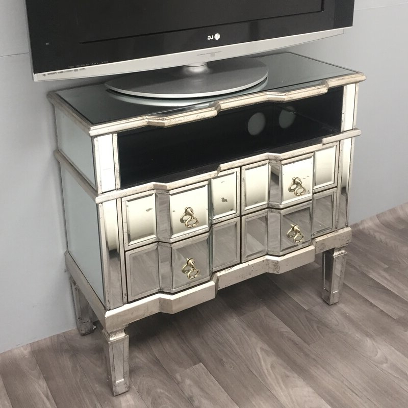 Loren Mirrored Wide Tv Unit Stands In Most Up To Date Alterton Vintage Mirrored Range Tv Stand For Tvs Up To  (View 9 of 10)