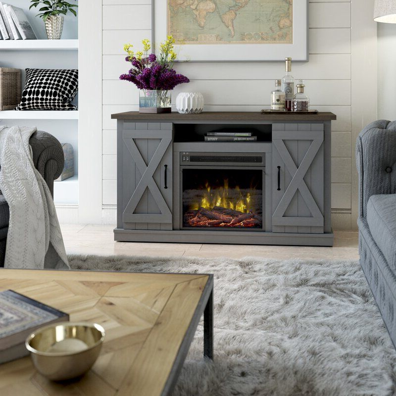 """Lorraine Tv Stand For Tvs Up To 60"""" With Fireplace Intended For Famous Rickard Tv Stands For Tvs Up To 65"""" With Fireplace Included (View 25 of 25)"""