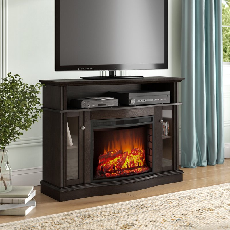 """Lorraine Tv Stands For Tvs Up To 60"""" With Fireplace Included For Trendy Red Barrel Studio® Welliver Tv Stand For Tvs Up To  (View 24 of 25)"""