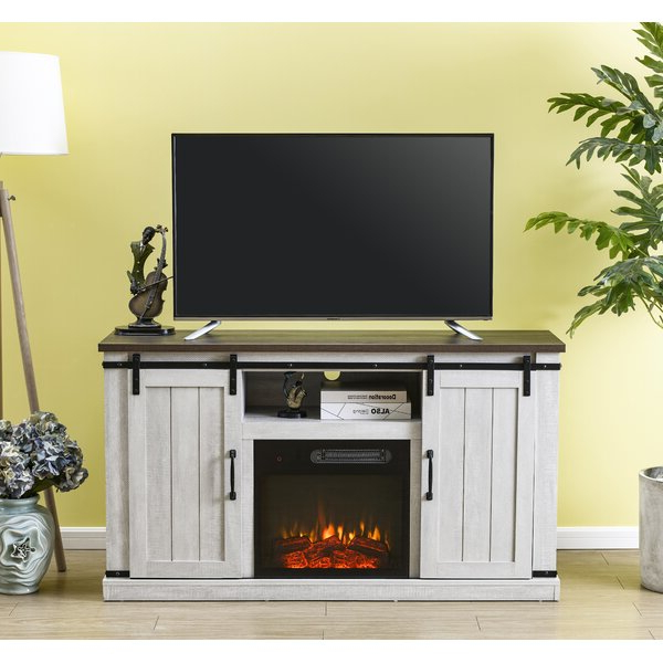 """Lorraine Tv Stands For Tvs Up To 60"""" With Fireplace Included For Well Liked Gracie Oaks Canyonlands Tv Stand For Tvs Up To 60"""" With (View 3 of 25)"""