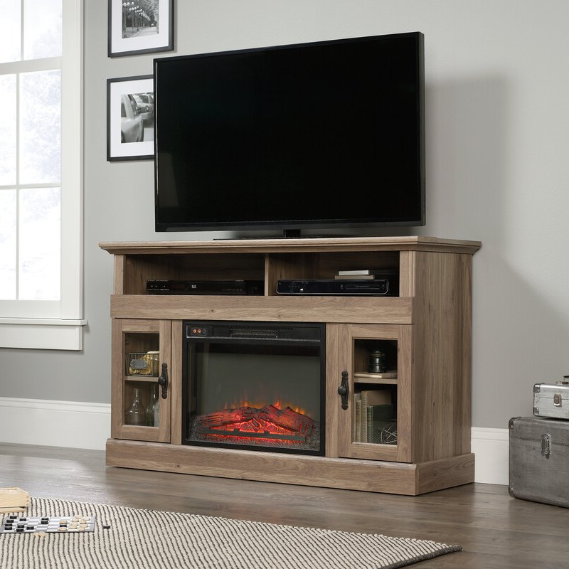 """Lorraine Tv Stands For Tvs Up To 60"""" With Fireplace Included Intended For Most Recently Released Alcott Hill® Tv Stand For Tvs Up To 60"""" With Fireplace (View 1 of 25)"""