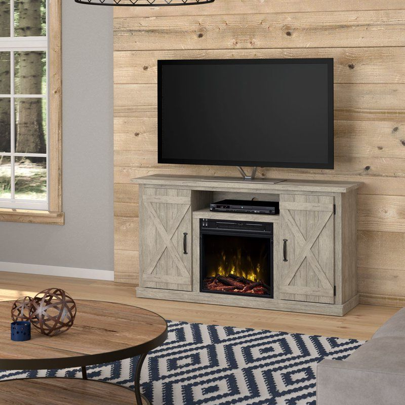 """Lorraine Tv Stands For Tvs Up To 60"""" With Fireplace Included Throughout Favorite Lorraine Tv Stand For Tvs Up To 55"""" With Electric (View 10 of 25)"""