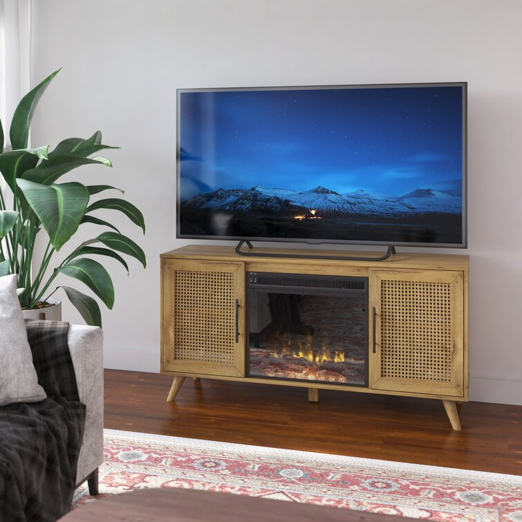 """Lorraine Tv Stands For Tvs Up To 60"""" With Fireplace Included With Regard To Famous Twin Star Home Tv Stand For Tvs Up To 60"""" With Fireplace (View 19 of 25)"""