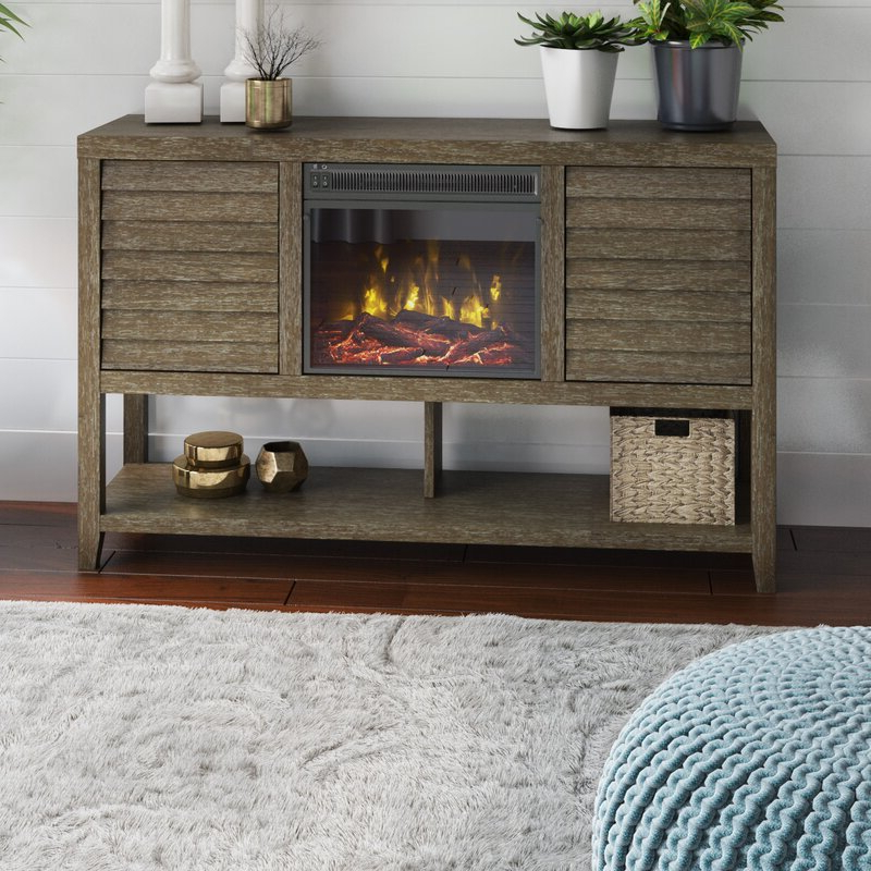 """Lorraine Tv Stands For Tvs Up To 60"""" With Fireplace Included Within Well Known Highland Dunes Kerner Tv Stand For Tvs Up To 60"""" With (View 6 of 25)"""