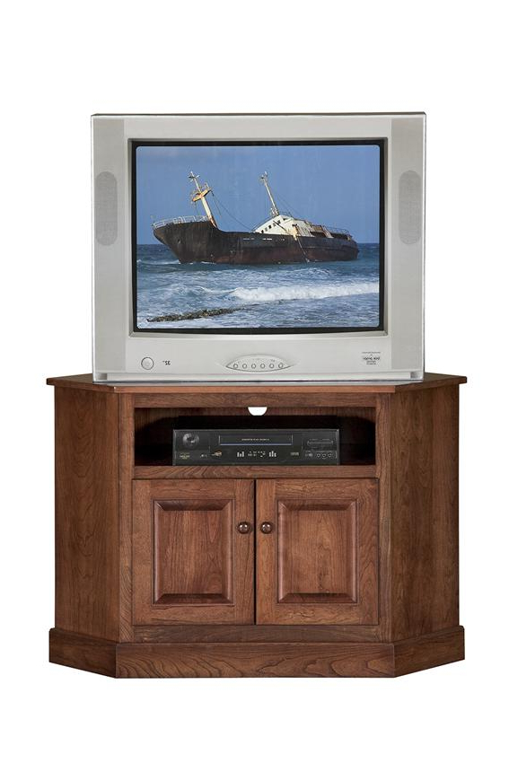 Lucy Cane Cream Corner Tv Stands Within Most Recently Released Amish Shaker Compact Corner Tv Stand (View 8 of 25)