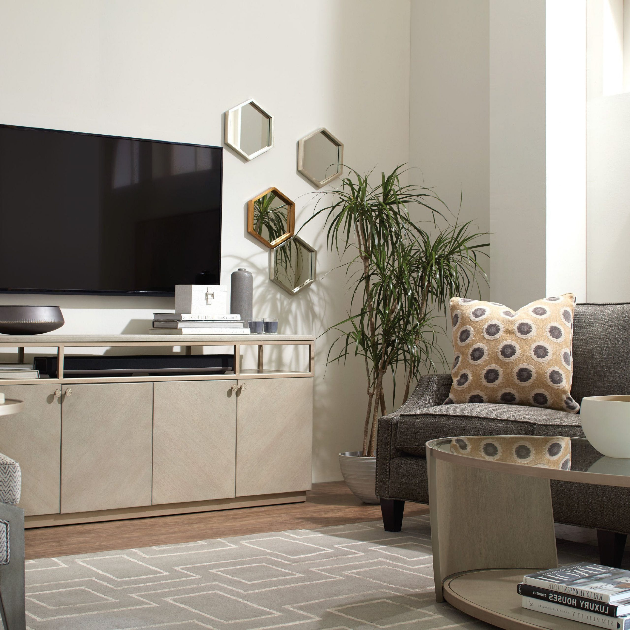 Lucy Cane Grey Wide Tv Stands Intended For Most Up To Date Luxe Designs Tv Stand (View 20 of 25)