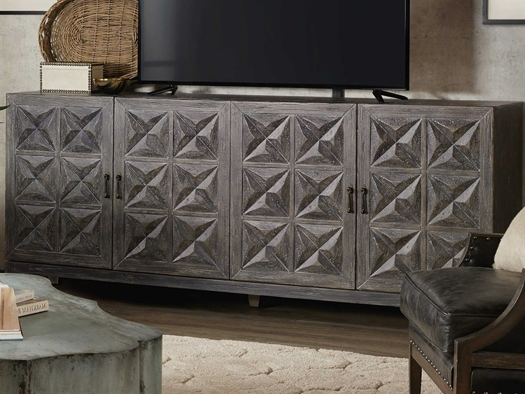Lucy Cane Grey Wide Tv Stands With Regard To 2017 Hooker Furniture Beaumont Gray Tv Stand (View 6 of 25)