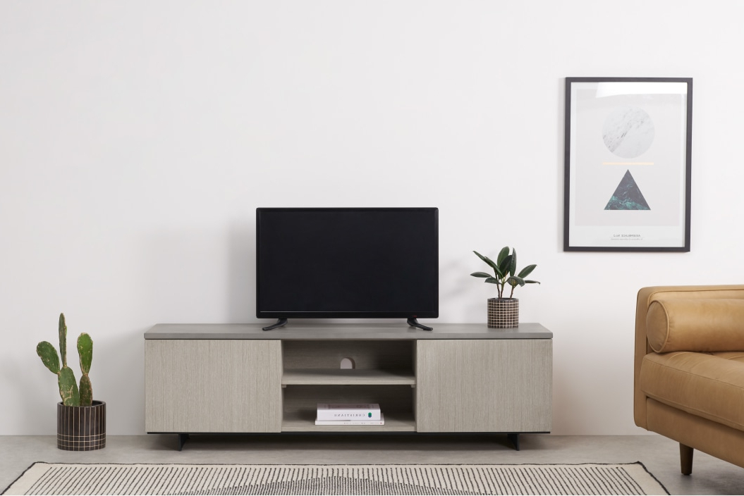 Made Intended For Newest Dillon Oak Extra Wide Tv Stands (View 6 of 10)