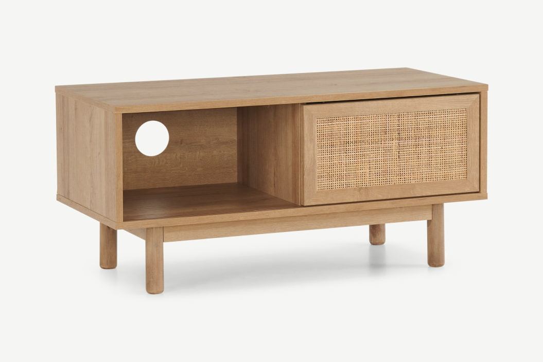 Made Pertaining To Recent Fulton Oak Effect Wide Tv Stands (View 8 of 10)