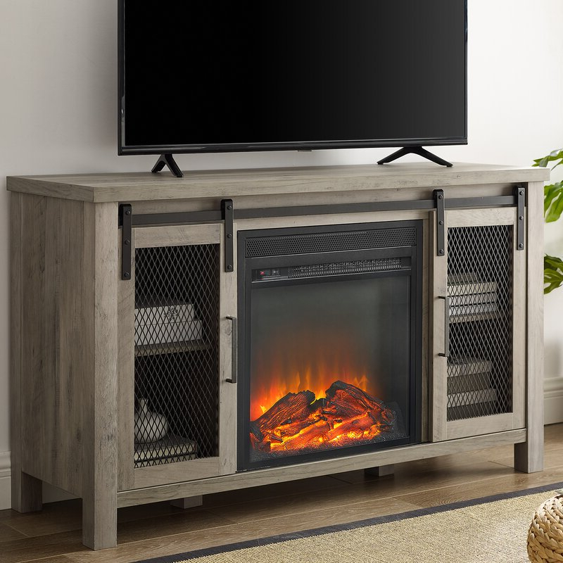 """Mahan Tv Stand For Tvs Up To 55"""" With Fireplace Included Throughout Most Recently Released Lorraine Tv Stands For Tvs Up To 60"""" With Fireplace Included (View 22 of 25)"""