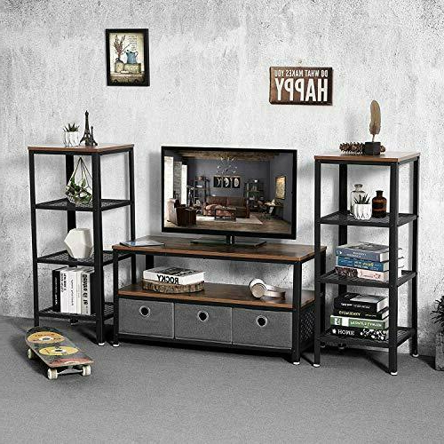 Mainstays Tv Stand With Side Storage For Tvs Up To 32 With Trendy Mainstays 3 Door Tv Stands Console In Multiple Colors (View 2 of 10)