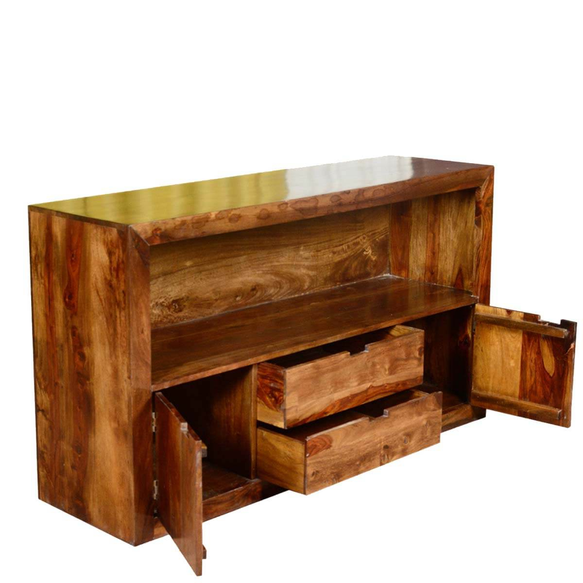 Manhattan 2 Drawer Media Tv Stands Inside Well Known Contemporary Cabin Solid Wood 2 Drawer Media Tv Stand Console (View 12 of 25)