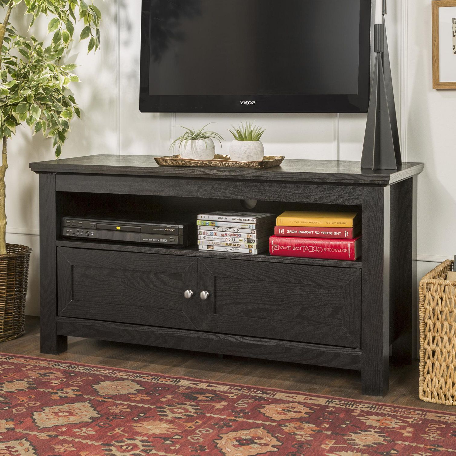 Manor Park Simple Rustic Tv Stand For Tv's Up To 48 For Widely Used Urban Rustic Tv Stands (View 3 of 10)