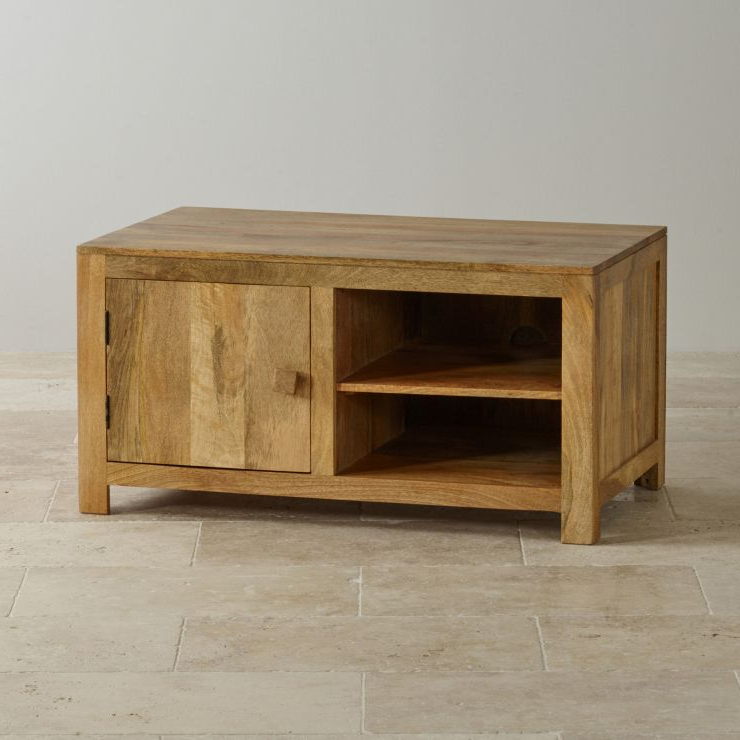 Mantis Light Widescreen Tv + Dvd Cabinet In Natural Solid Throughout Newest Kemble For Tvs Up To  (View 4 of 25)