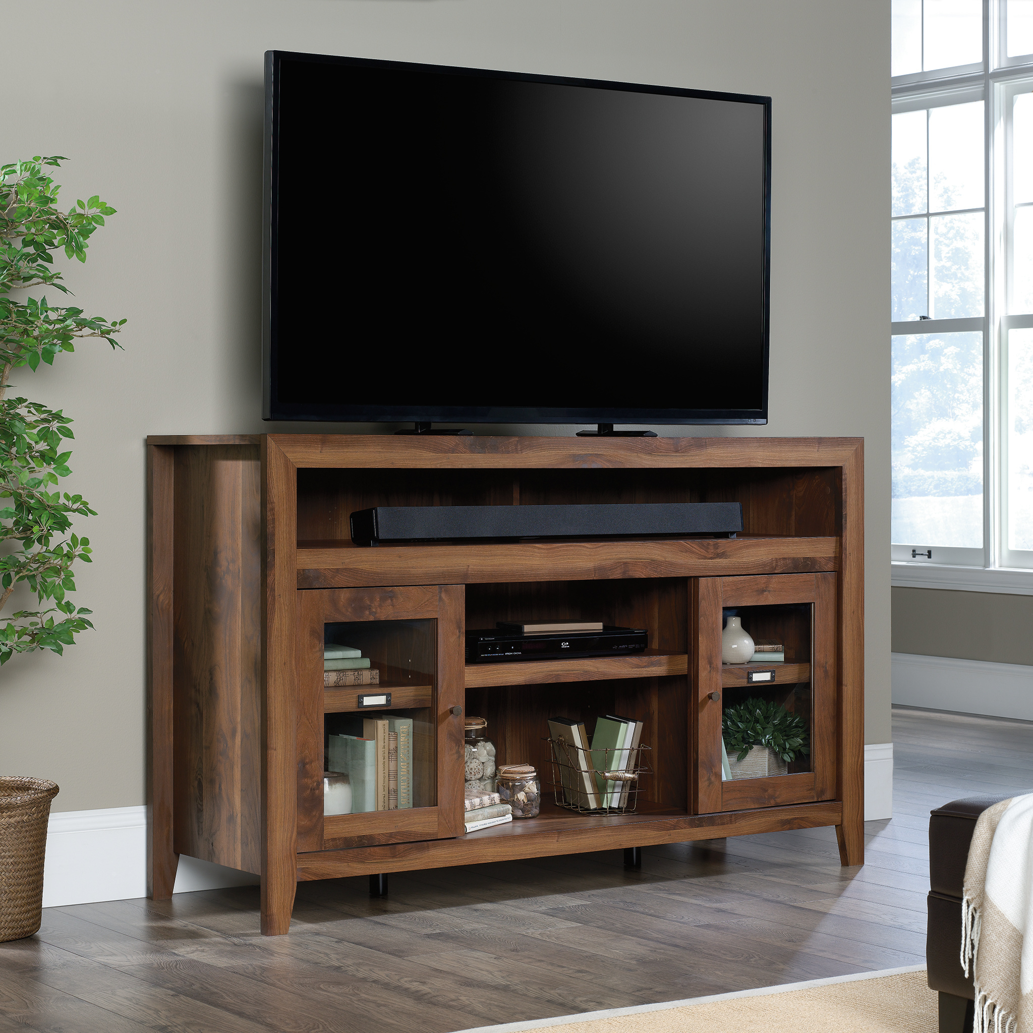 """Margulies Tv Stands For Tvs Up To 60"""" With Widely Used Sauder Dakota Pass Tv Stand Credenza For Tvs Up To  (View 10 of 25)"""