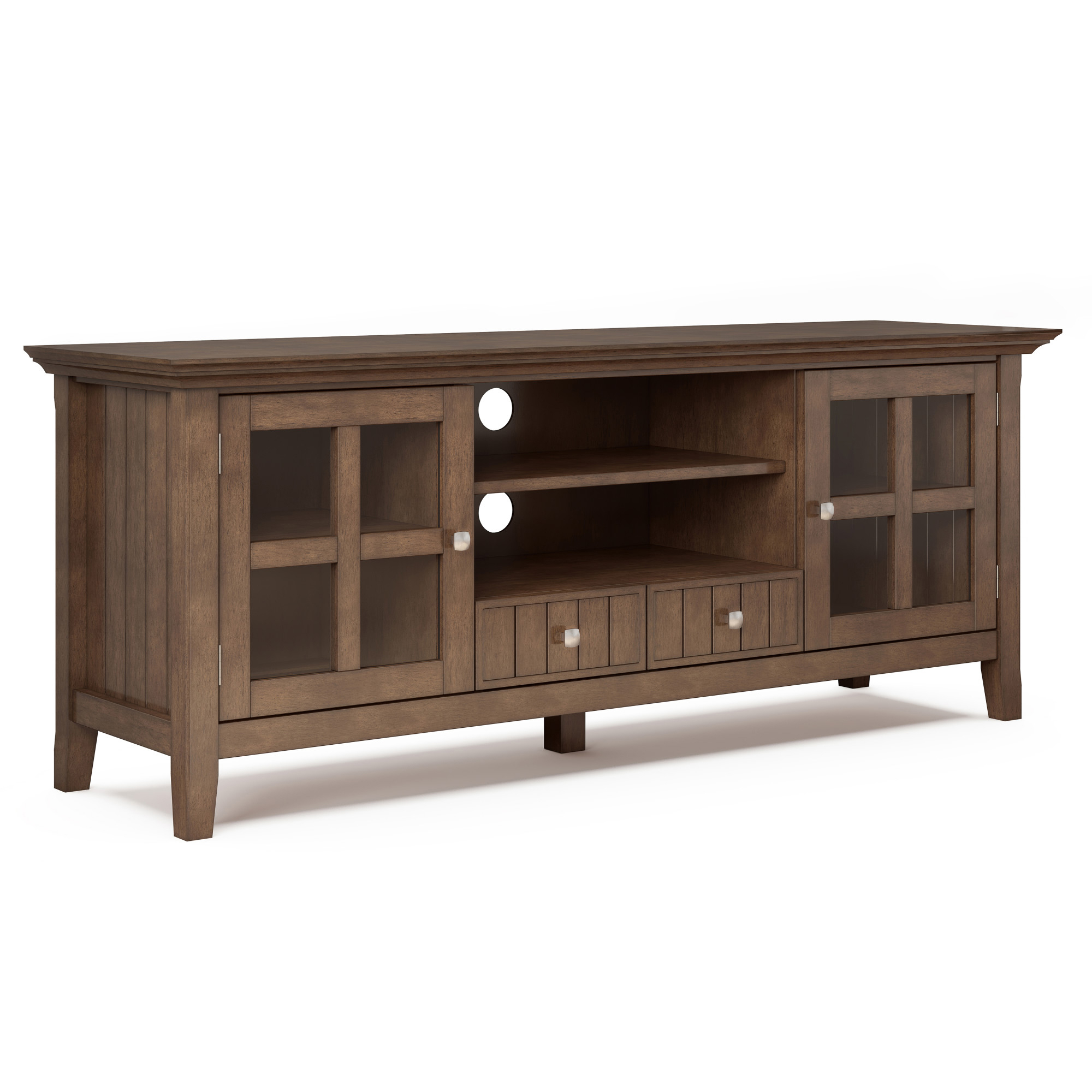 """Margulies Tv Stands For Tvs Up To 60"""" Within Famous Brooklyn + Max Brunswick Solid Wood 60 Inch Wide Rustic Tv (View 15 of 25)"""