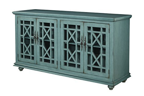 """Martin Svensson Home 91001 Jules 63"""" Tv Stand, Teal With Widely Used Jule Tv Stands (View 10 of 10)"""