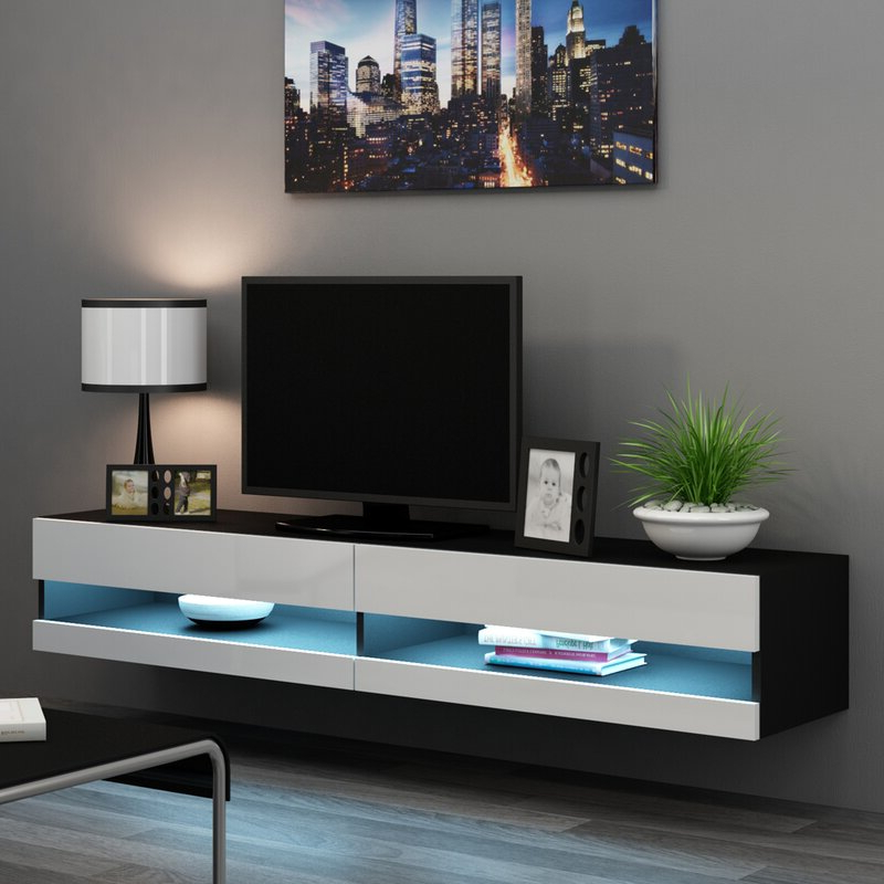"""Metro Lane Steck Tv Stand For Tvs Up To 78"""" (View 11 of 25)"""