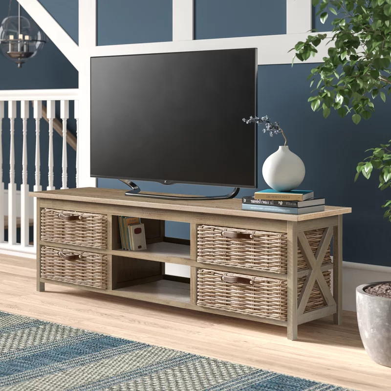 """Miconia Solid Wood Tv Stands For Tvs Up To 70"""" Inside Recent Owston Solid Wood Tv Stand For Tvs Up To 65 Inches In  (View 17 of 25)"""