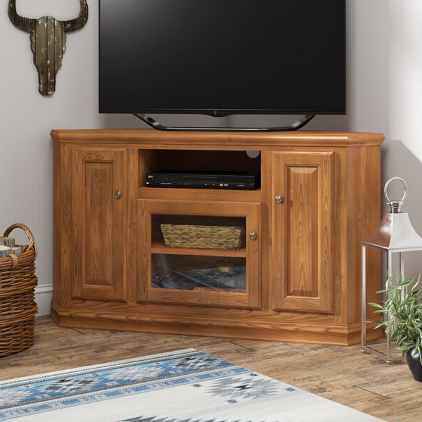 """Miconia Solid Wood Tv Stands For Tvs Up To 70"""" With Regard To Well Known Loon Peak® Lapierre Solid Wood Corner Tv Stand For Tvs Up (View 8 of 25)"""