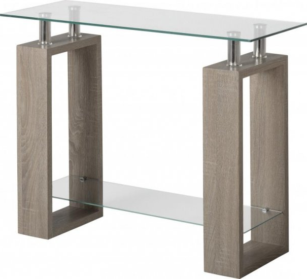 Milan Console Table In Light Charcoal / Clear Glass With Regard To Most Popular Milan Glass Tv Stands (View 10 of 10)