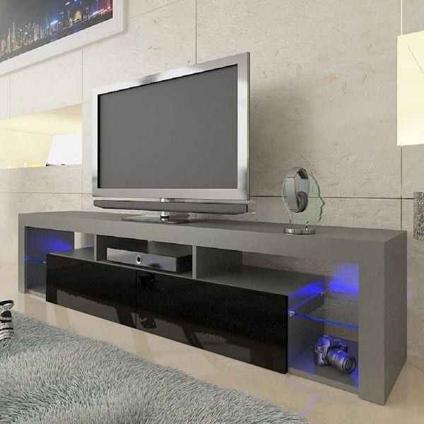 """Milano 200 Wall Mounted Floating Led 79"""" Tv Stands Inside Fashionable Overstock: Online Shopping – Bedding, Furniture (View 2 of 10)"""