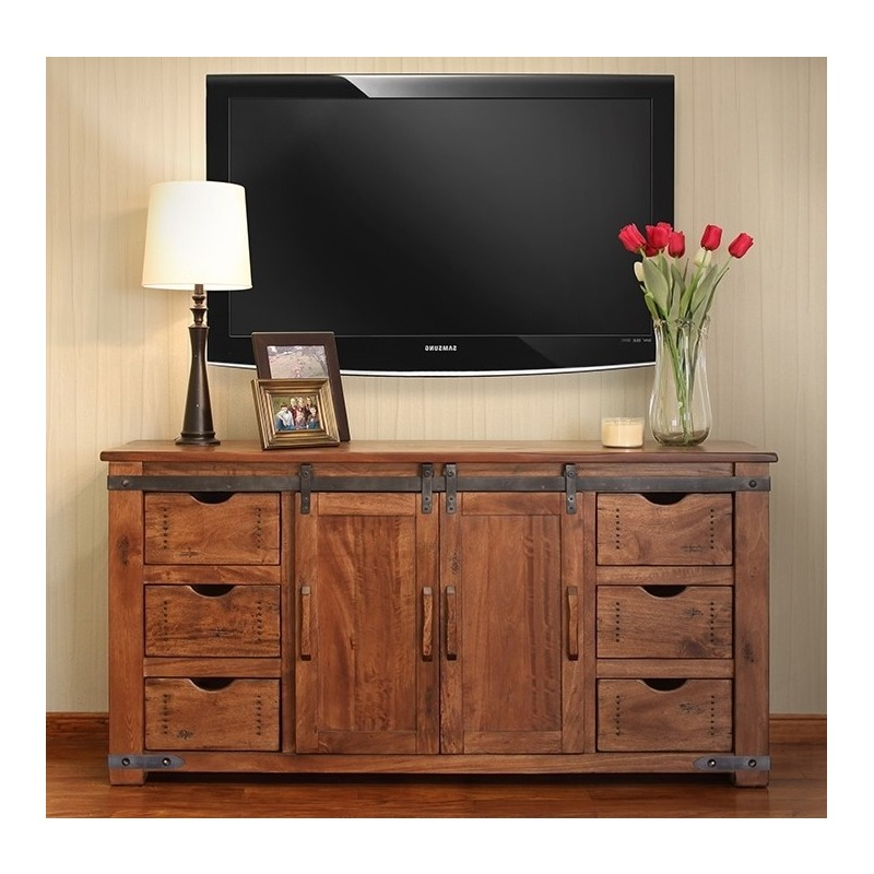 """Millen Tv Stands For Tvs Up To 60"""" For Fashionable 60"""" Tv Stand W/6 Drawer, 1 Door W/2 Shelves (View 12 of 25)"""