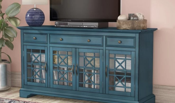 """Millen Tv Stands For Tvs Up To 60"""" With Regard To Fashionable Daisi Tv Stand For Tvs Up To 60″mistana Review (View 13 of 25)"""